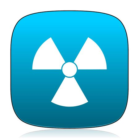 radiacion: la radiaci�n del icono azul Foto de archivo