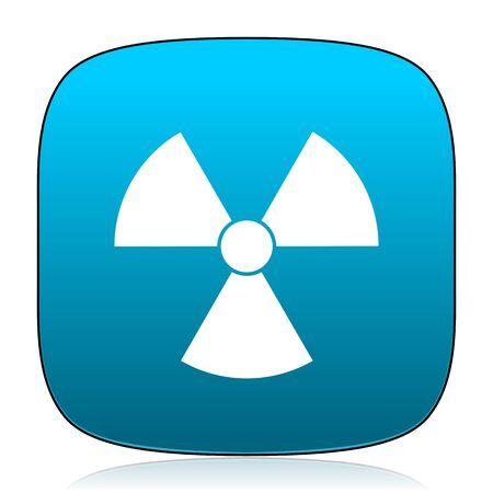 gamma radiation: radiation blue icon