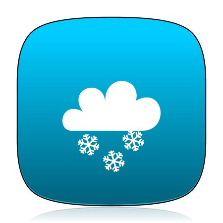 snowing: snowing blue icon Stock Photo
