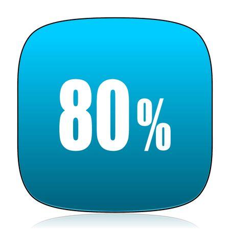 80: 80 percent blue icon