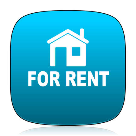 rent: for rent blue icon