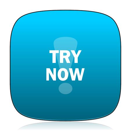 try: try now blue icon