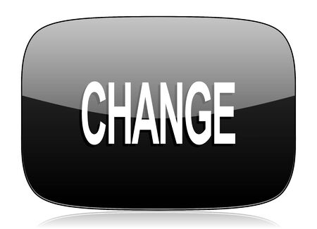 better icon: change black glossy web modern icon
