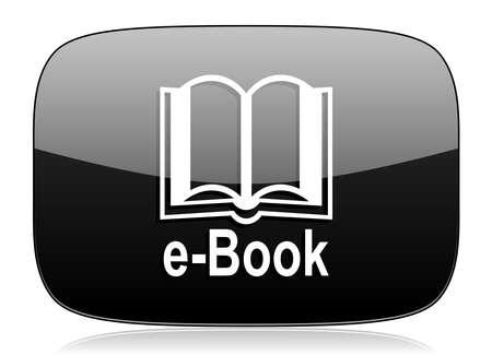 reading app: book black glossy web modern icon