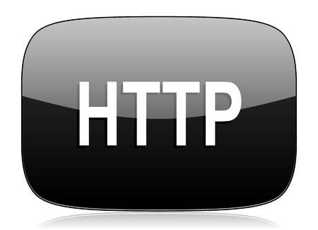 http: http black glossy web modern icon Stock Photo