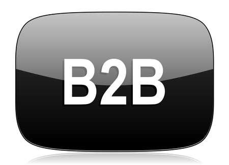 b2b: b2b black glossy web modern icon