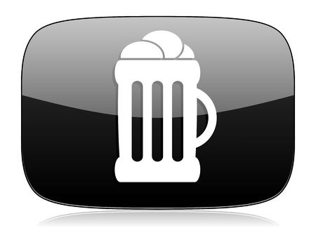 cereal bar: beer black glossy web modern icon