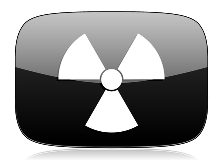 gamma radiation: radiation black glossy web modern icon