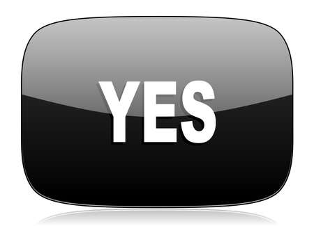 proceed: yes black glossy web modern icon