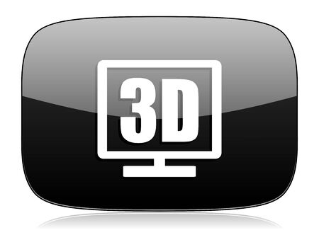 display: 3d display black glossy web modern icon