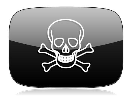 pirating: skull black glossy web modern icon