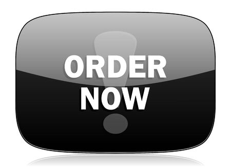 order now: order now black glossy web modern icon