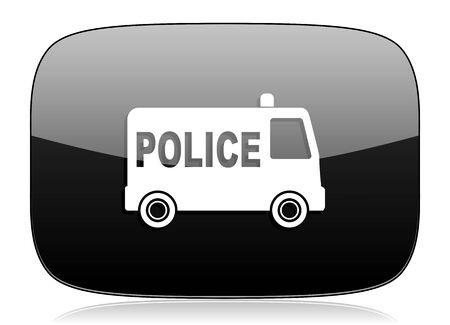 patrolman: police black glossy web modern icon Stock Photo