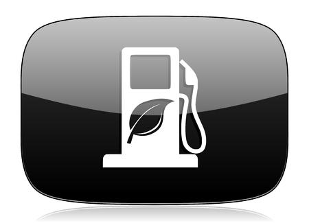 biodiesel: biofuel black glossy web modern icon