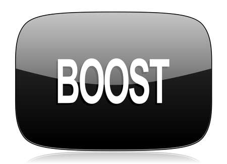 boost: boost black glossy web modern icon