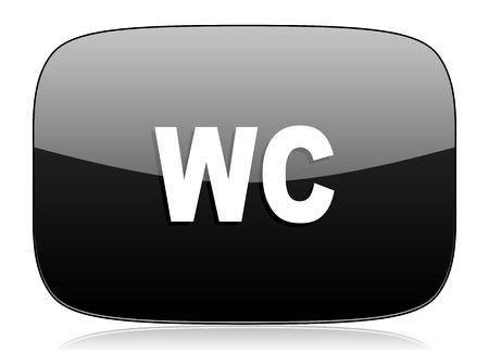 toilette: toilet black glossy web modern icon