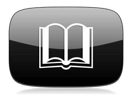 guestbook: book black glossy web modern icon