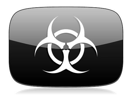 varez: biohazard black glossy web modern icon