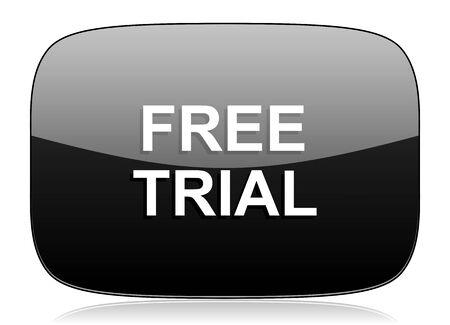 gratuity: free trial black glossy web modern icon
