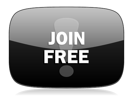 subscribe here: join free black glossy web modern icon