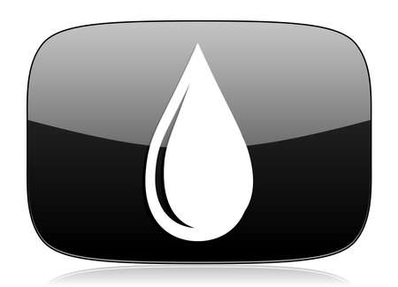 drinkable: water drop black glossy web modern icon