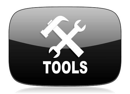 option key: tools black glossy web modern icon