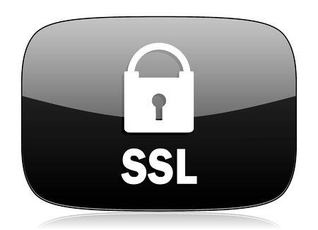ssl: ssl black glossy web modern icon