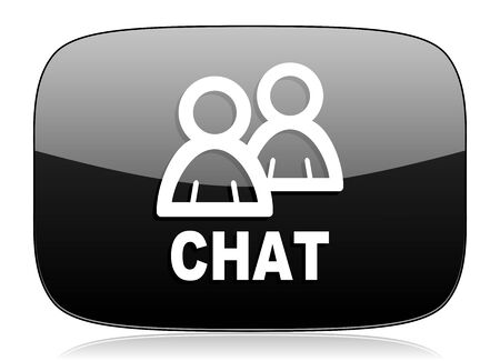 people discuss: chat black glossy web modern icon