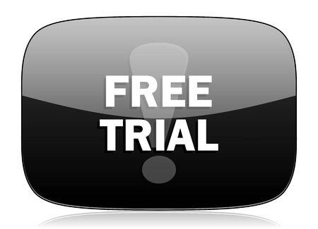 free trial: free trial black glossy web modern icon