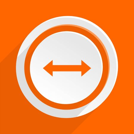 sterring: arrow orange flat design modern icon for web and mobile app