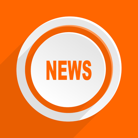 reportage: news orange flat design modern icon for web and mobile app Stock Photo