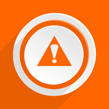 exclamation icon: exclamation sign orange flat design modern icon for web and mobile app