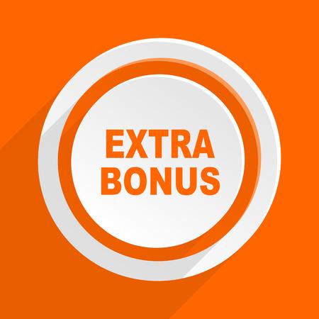 discounting: extra bonus orange flat design modern icon for web and mobile app Stock Photo