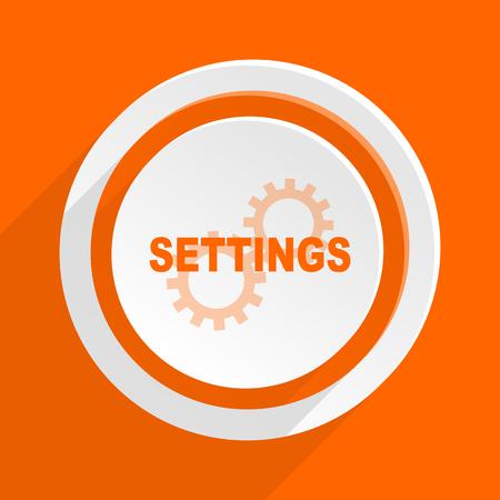 interface menu tool: settings orange flat design modern icon for web and mobile app