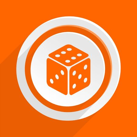 picto: game orange flat design modern icon for web and mobile app