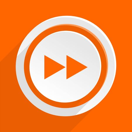 mobile app: rewind orange flat design modern icon for web and mobile app