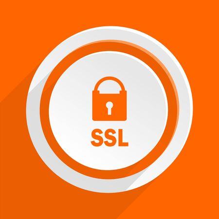 ssl: ssl orange flat design modern icon for web and mobile app