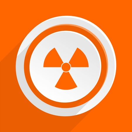 radiation orange flat design modern icon for web and mobile app Stock Photo