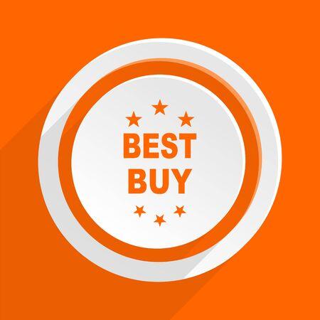 best buy: best buy orange flat design modern icon for web and mobile app Stock Photo