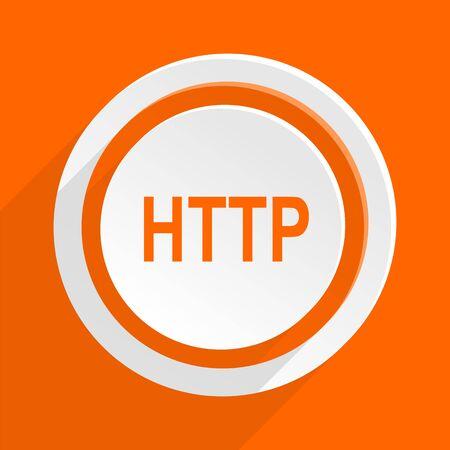hyperlink: http orange flat design modern icon for web and mobile app Stock Photo