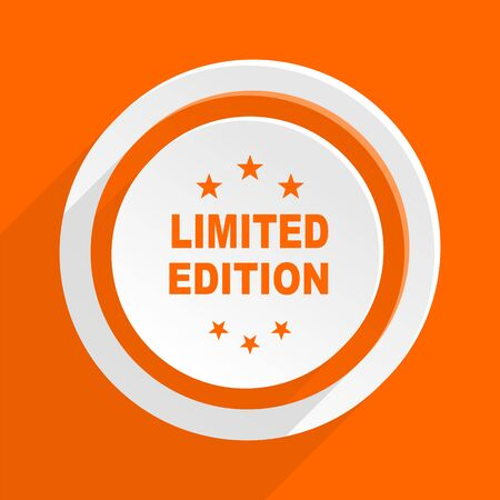 limited edition: limited edition orange flat design modern icon for web and mobile app
