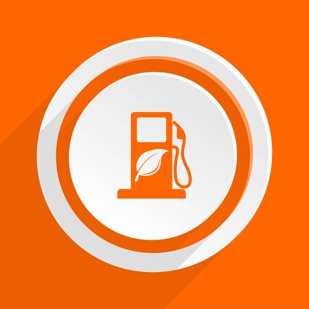 biofuel: biofuel orange flat design modern icon for web and mobile app