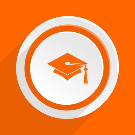 toga: education orange flat design modern icon for web and mobile app
