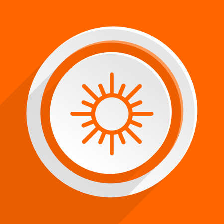 clave sol: sun orange flat design modern icon for web and mobile app Foto de archivo