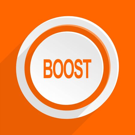 boost: boost orange flat design modern icon for web and mobile app