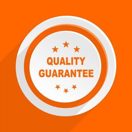 recommend: quality guarantee orange flat design modern icon for web and mobile app