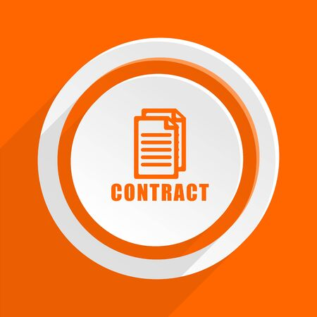 icom: contract orange flat design modern icon for web and mobile app Stock Photo