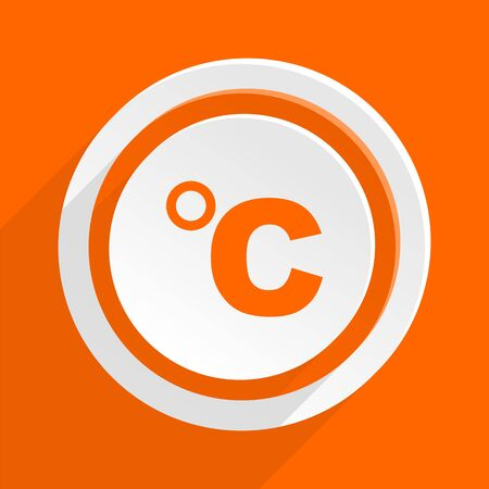 celsius: celsius orange flat design modern icon for web and mobile app