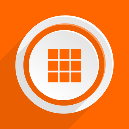 thumbnails: thumbnails grid orange flat design modern icon for web and mobile app