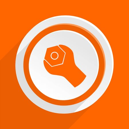 instrumentation: tools orange flat design modern icon for web and mobile app